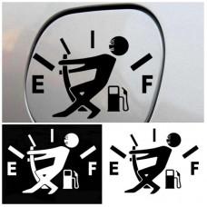 Забавен стикер за автомобил с разход гориво