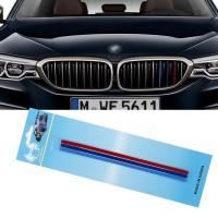 3 броя за кола в М-цветна лента за решетка на BMW